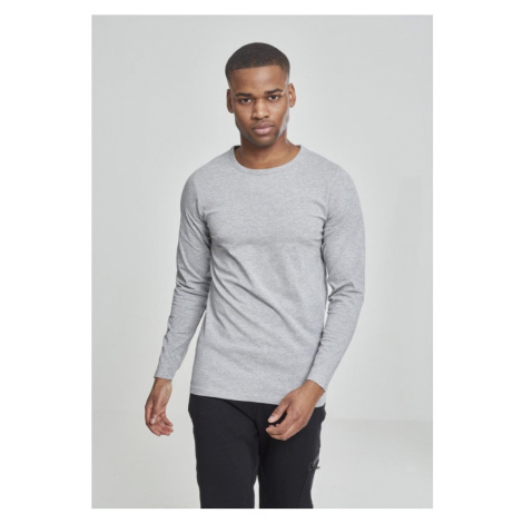Fitted Stretch L/S Tee - grey Urban Classics