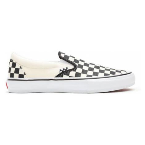 BOTY VANS Skate Slip-On (CHECKERBOARD) - černá