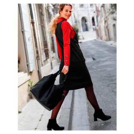 Blancheporte Jednobarevné šaty z úpletu Milano černá