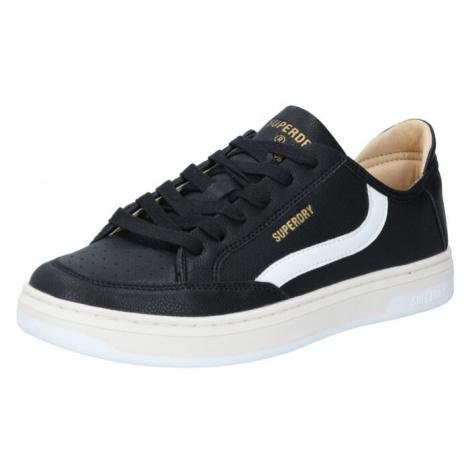 Superdry Sportovní boty černá / bílá