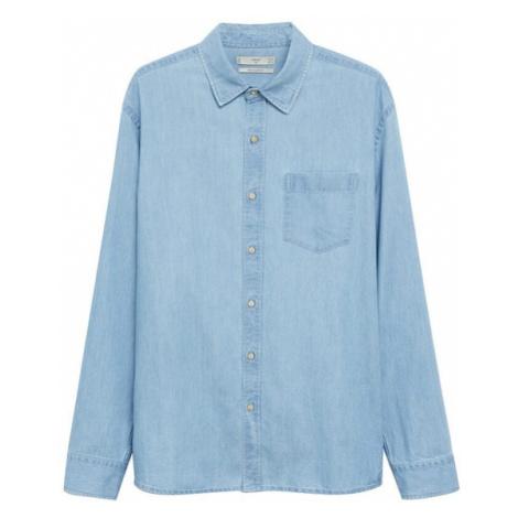 MANGO MAN Košile nebeská modř
