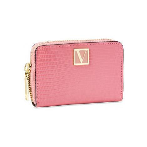 Victorias Secret malá růžová peněženka The Victoria Small Wallet Victoria's Secret