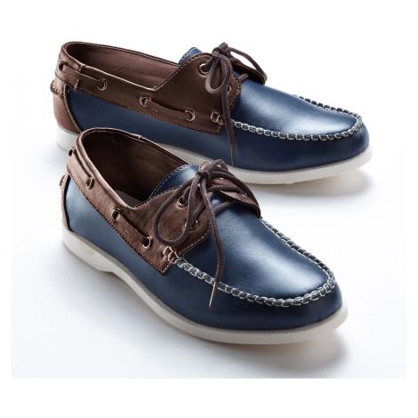 Blancheporte Vycházkové boty nám.modrá/kaštanová