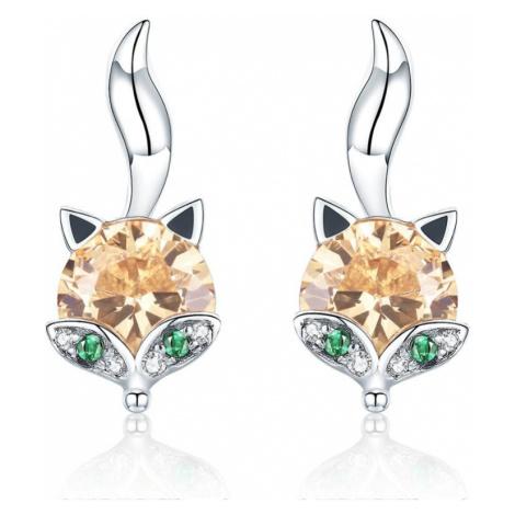 Linda's Jewelry Stříbrné náušnice Moudrá Liška Ag 925/1000 IN208