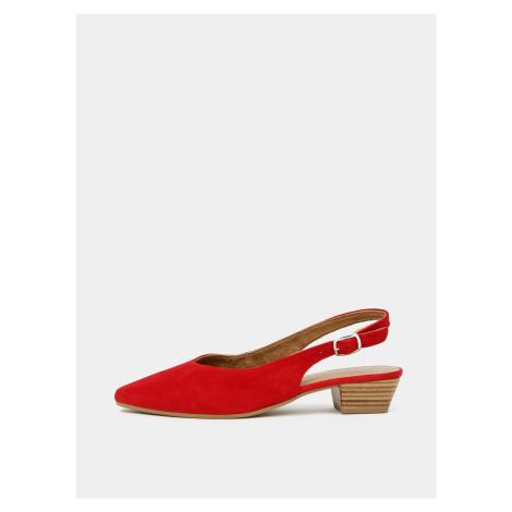 Tamaris červené semišové baleríny