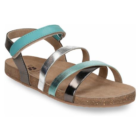 Kožené dětské sandály na suchý zip Baťa