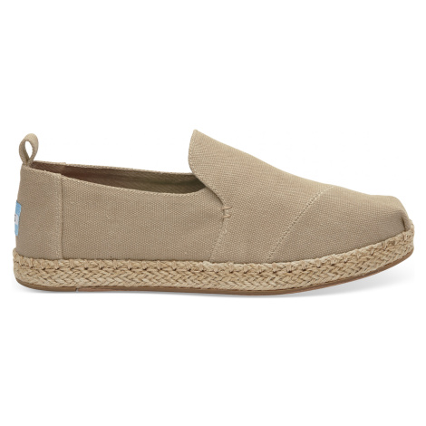 DECONSTRUCTED ALPARGATA-Desert Taupe Washed Canvas Toms