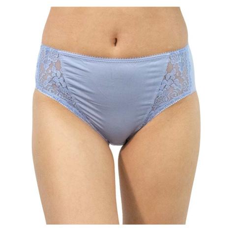 Dámské kalhotky Gina modré s krajkou (10120)