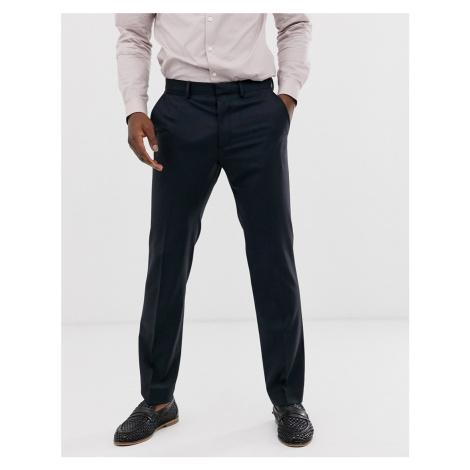 ASOS DESIGN wedding 100% wool slim suit trousers in navy