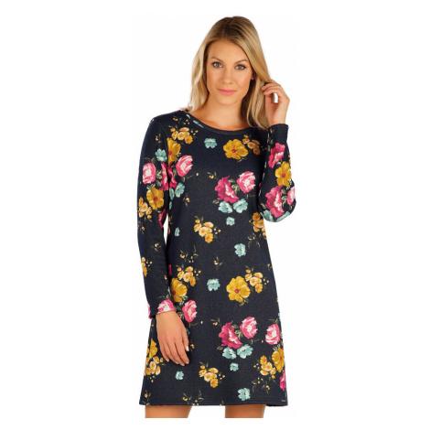 LITEX Šaty dámské s dlouhým rukávem 7A075999 tisk