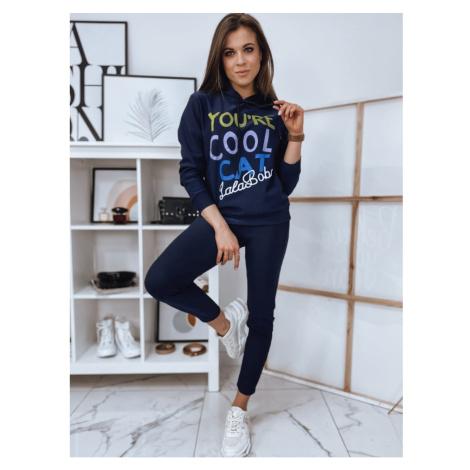 Women's sweat suit ADISON navy blue AY0480 DStreet