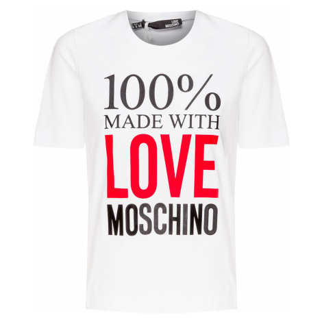Tričko LOVE MOSCHINO bílá