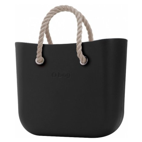 O bag kabelka MINI Nero s krátkymi provazy natural