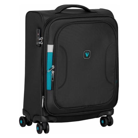 Cestovní textilní černý kufr Roncato