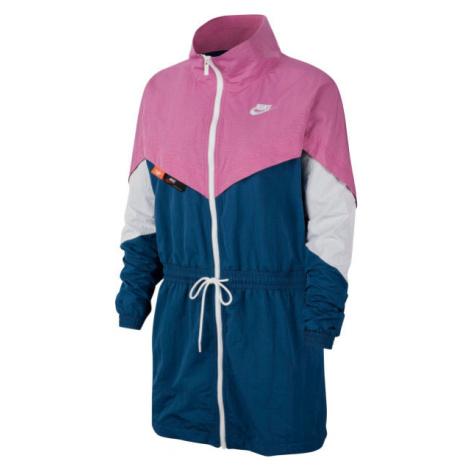 Nike NSW ICN CLSH TRACK JKT WVN W tmavě modrá - Dámská bunda