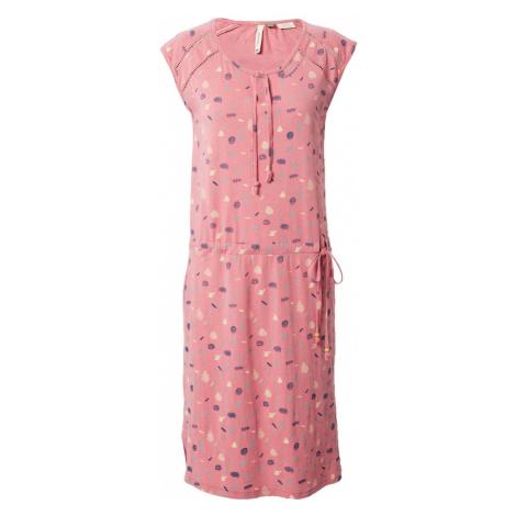 Ragwear Letní šaty 'Tetuan' starorůžová / světle žlutá / námořnická modř / světlemodrá