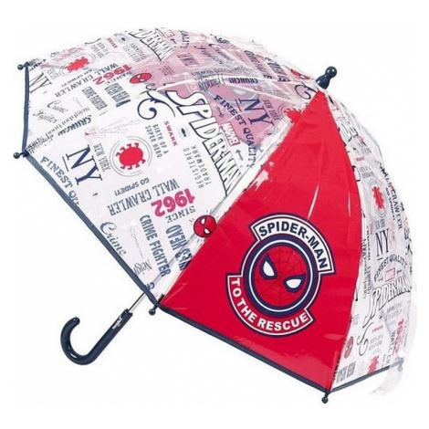 Spider-man průhledný chlapecký deštník