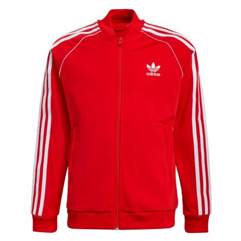 ADIDAS ORIGINALS Přechodná bunda červená / bílá
