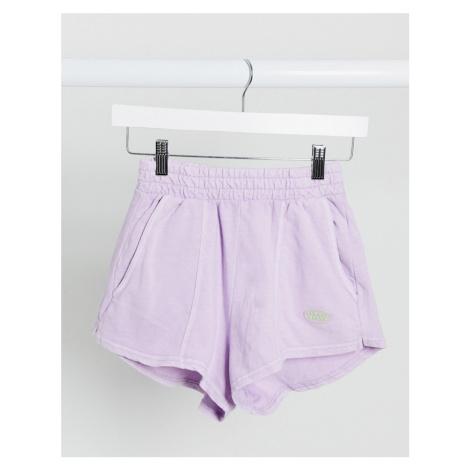 Bershka jersey runner short in lilac-Pink