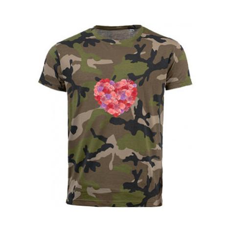 Pánské maskáčové tričko All you need is love