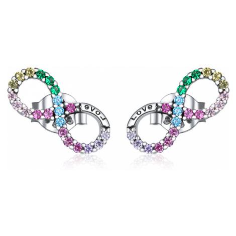 Linda's Jewelry Stříbrné náušnice Infinite Rainbow Ag 925/1000 IN147