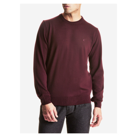 Svetr Trussardi Round Neck Regular Fit Pure Wool Barevná