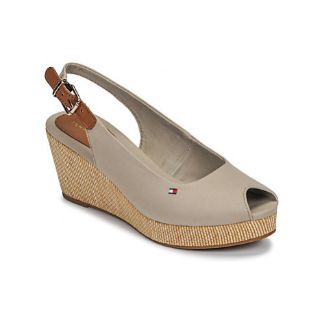 Tommy Hilfiger ICONIC ELBA SLING BACK WEDGE Béžová