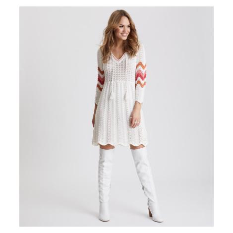 Šaty Odd Molly Soul Stripes Dress - Bílá
