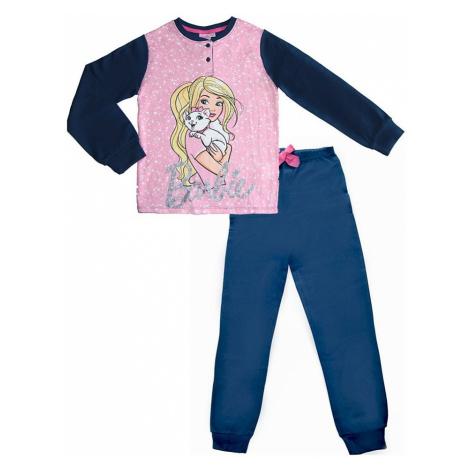 Dívčí modré pyžamo s barbie