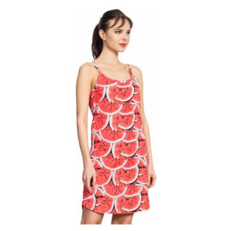 Dámská noční košile na ramínka Vienetta Secret Meloun | korálová