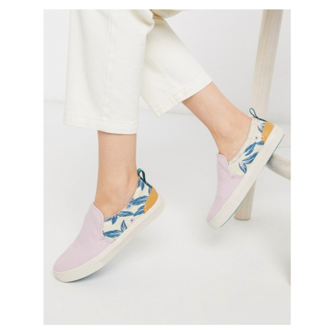 TOMS trvl lite slip on trainers in lilac-Purple