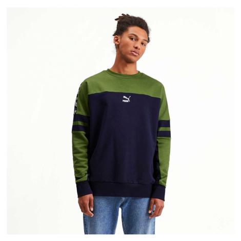 Zeleno-modrá mikina XTG Crew Men's Sweater Puma