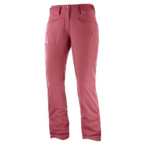 Lyžařské kalhoty Salomon QST Snow Pant W - růžová