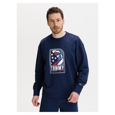 Basketball Logo Mikina Tommy Jeans Modrá Tommy Hilfiger