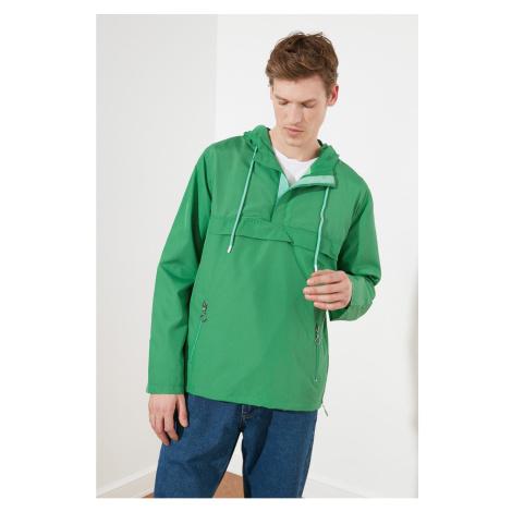 Trendyol Green Male Half Zip Detail New Coat