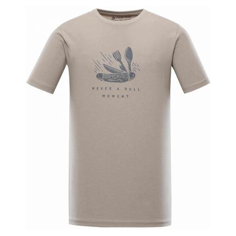 Alpine Pro Uneg 9 pánské tričko béžové