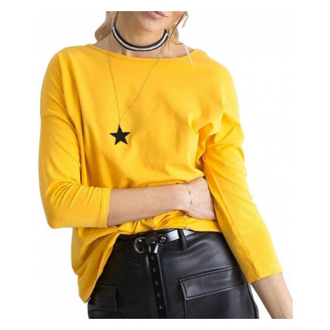 Tmavě-žluté dámské tričko BASIC