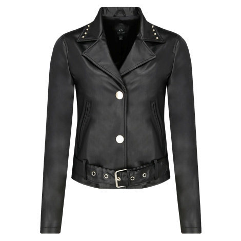 Černá kožená bunda - ARMANI EXCHANGE