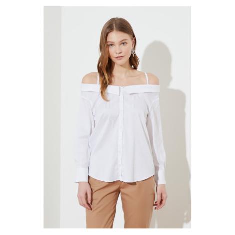 Trendyol White Strap Shirt