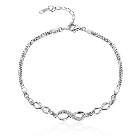 Linda's Jewelry Stříbrný náramek Nekonečno INR071