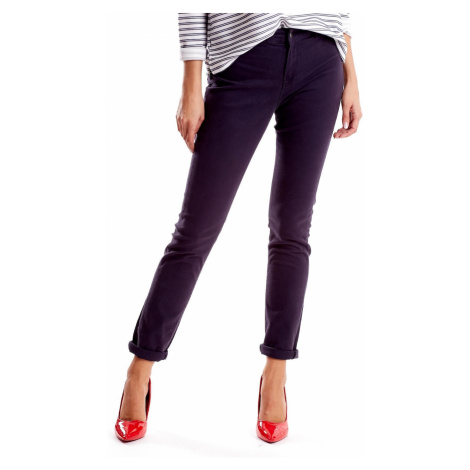 Gray women´s pants with straight legs Fashionhunters