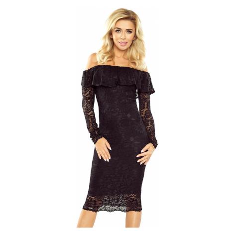 Černé krajkové šaty s dlouhým rukávem model 5352611 Morimia