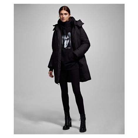 Kabát Karl Lagerfeld Karl X Carine Down Puffa Coat - Černá