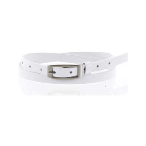 Penny Belts Dámský kožený opasek bílý - PB Neba 100 Bílá