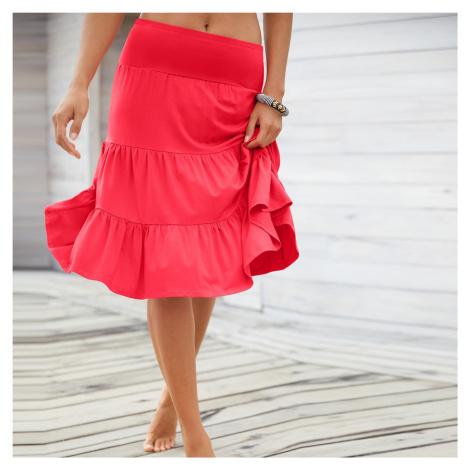 Blancheporte Vzdušná volánová sukně červená
