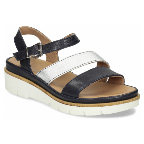 Dámské kožené sandály na platformě Baťa