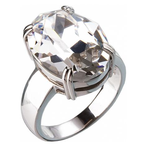 Stříbrný prsten s krystaly bílý 35802.1 Victum