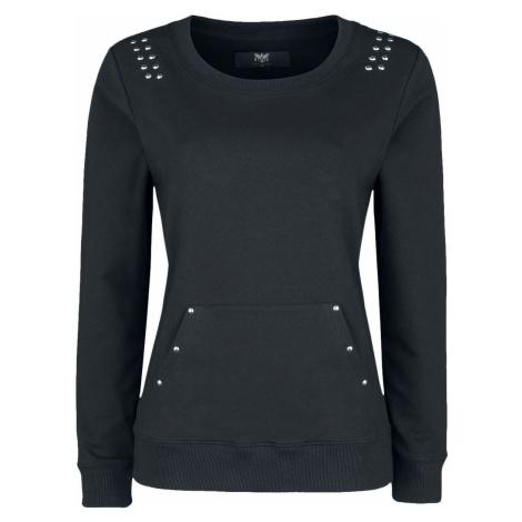 Black Premium by EMP Tričko s lodičkovým výstřihem a nýty Dívcí mikina černá