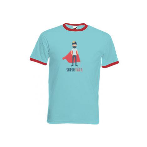 Pánské tričko s kontrastními lemy Supertáta