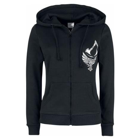 Assassin's Creed Valhalla - Raven & Symbol Dámská mikina s kapucí na zip černá